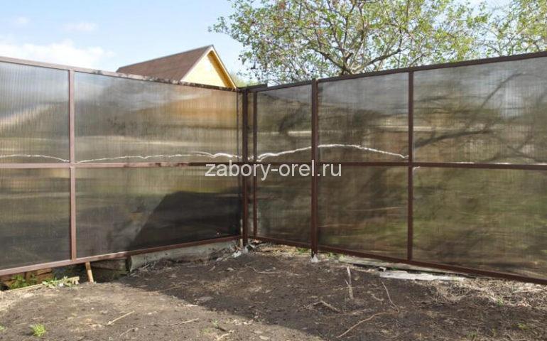 забор из поликарбоната в Орле