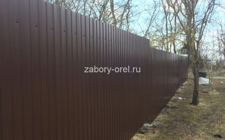 забор из профлиста в Орле